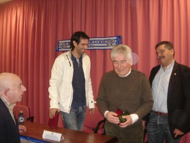 Valerón y Moll junto a Carlos Millor y Luciano Varela