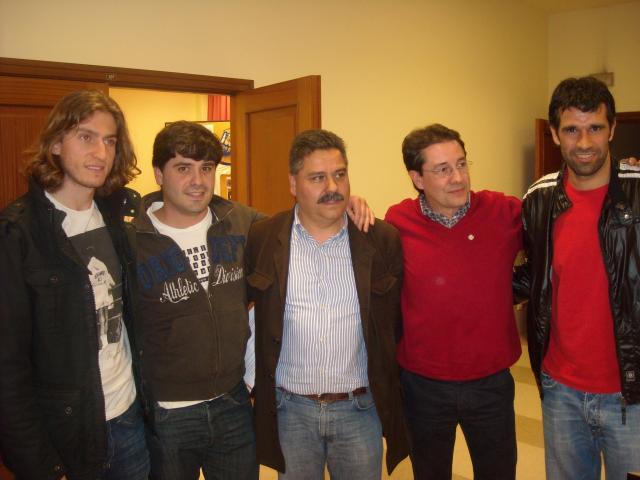 Filipe, Chus, Luciano, Rafa y Valerón